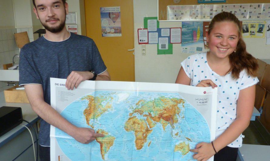 Fenja Oheim (Klasse 7a) und Lukas Schubert (Klasse 12) siegen in der Geographie-Olympiade