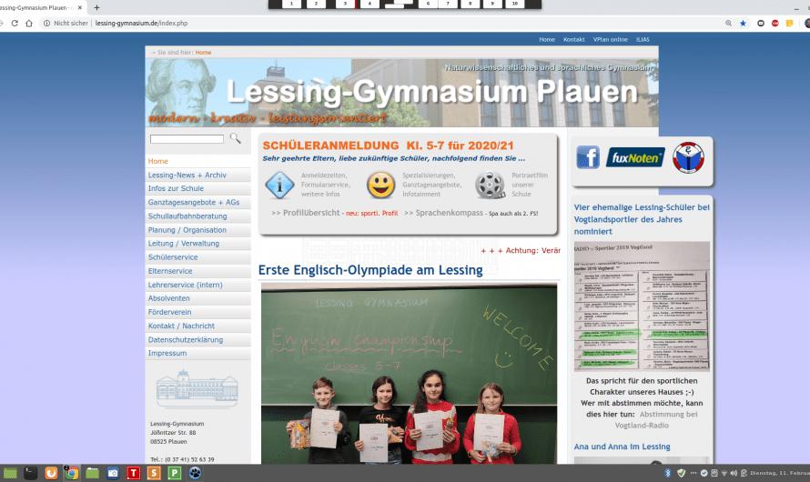 Alte Lessing-Homepage im wohlverdienten Ruhestand