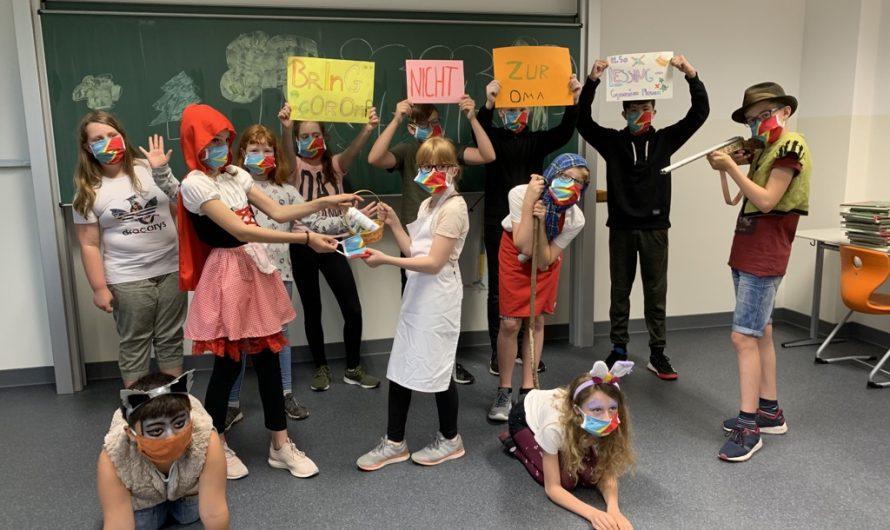 Kreative Masken-Helden der 5a nehmen am Helios-Wettbewerb teil