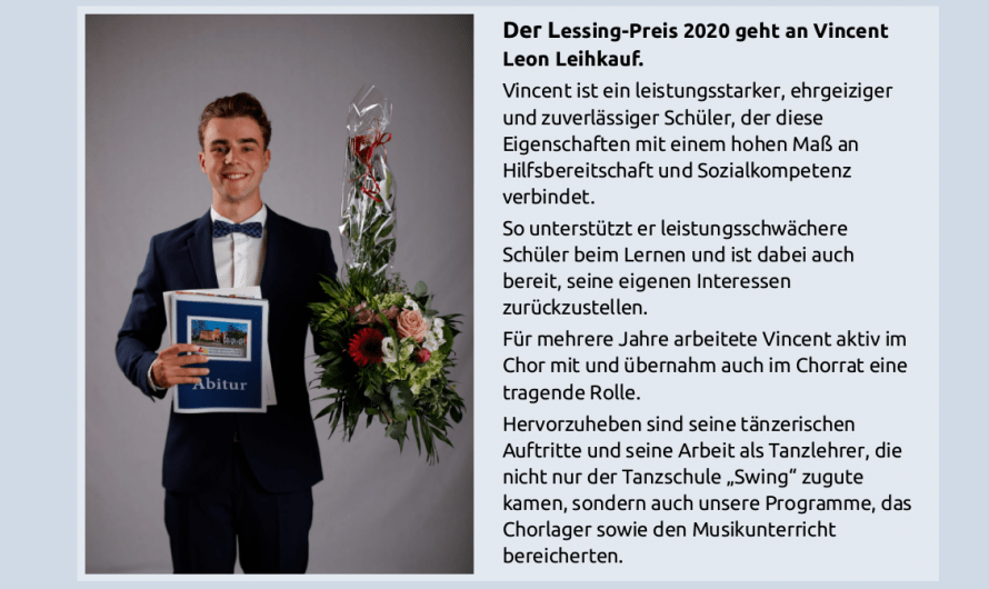 Lessing-Preis 2020 geht an Vincent Leon Leihkauf