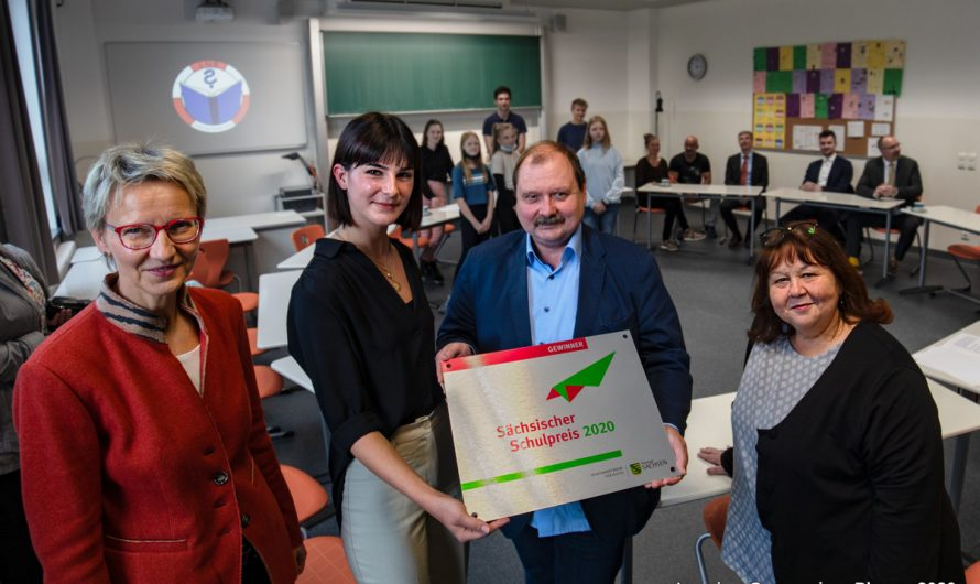 Sächsischer Schulpreis 2020 offiziell an Lessings Notenretter übergeben