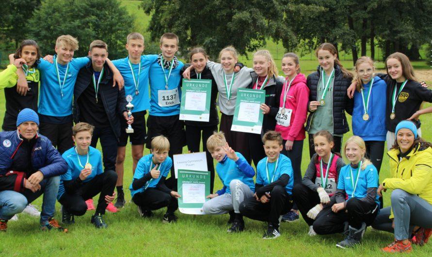Lessing-Gymnasium erfolgreichste Schule beim Landesfinale im Crosslauf
